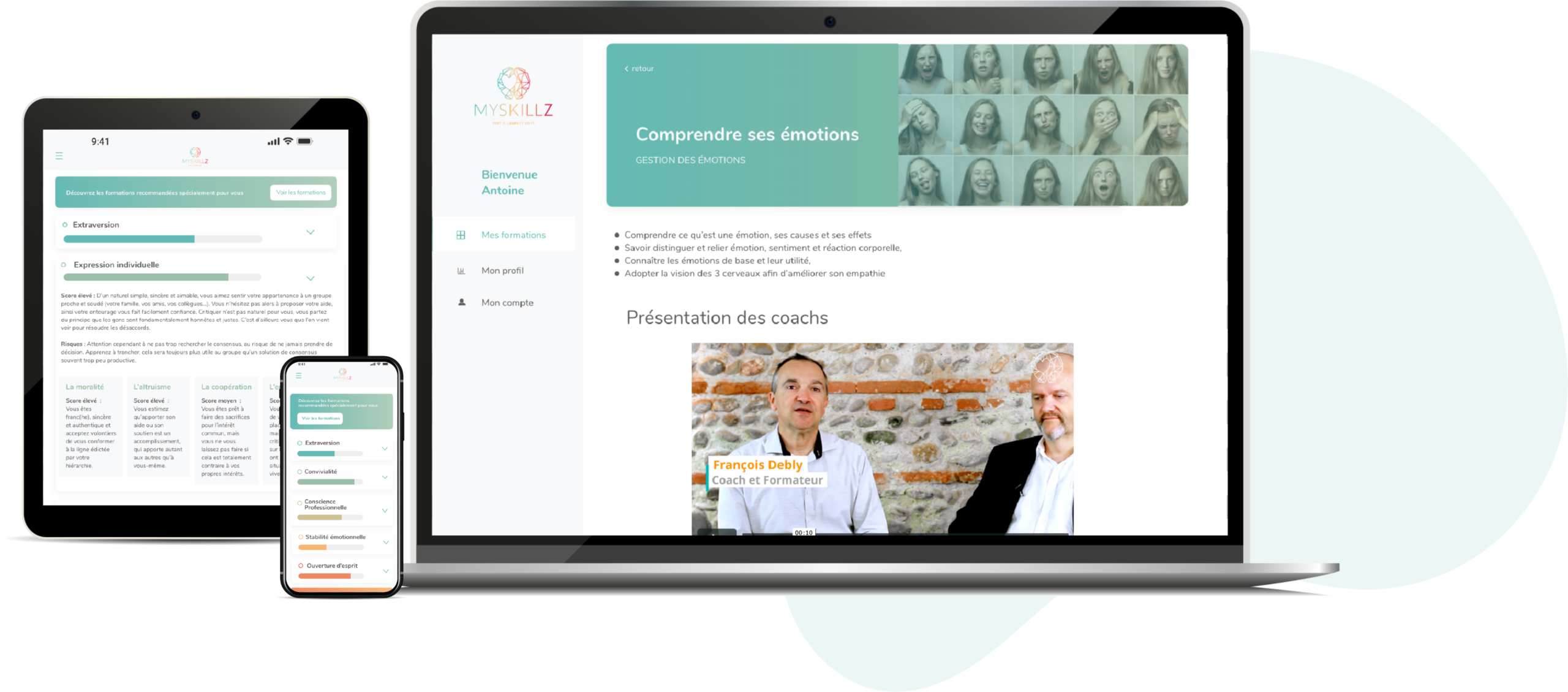 application formation professionnelle aux softskills
